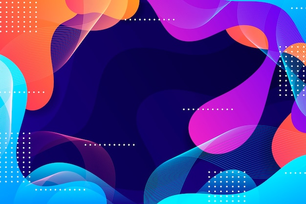 Colorful wavy abstract wallpaper