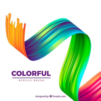 Colorful wavy acrylic background