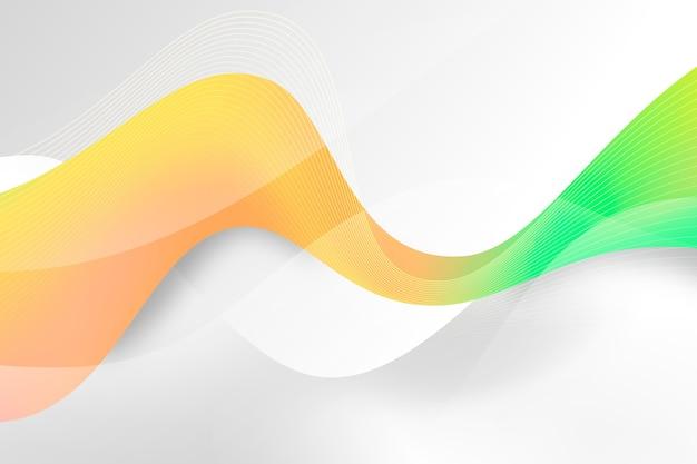 カラフルな波状の背景