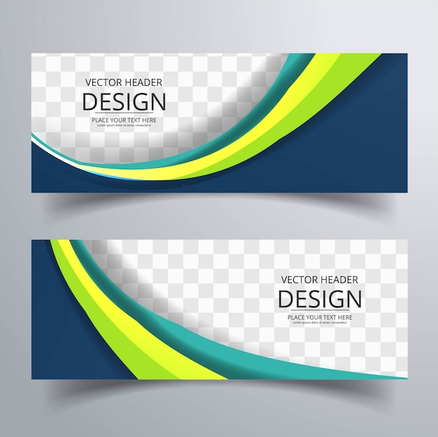 Banner ondulate colorati