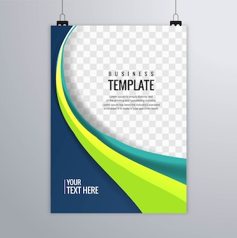 Colorful wavy business brochure