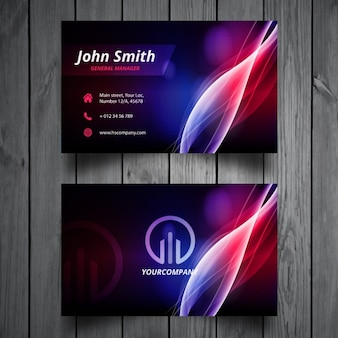 Colorful wavy business card design