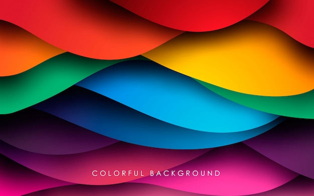 Colorful wavy fluid background