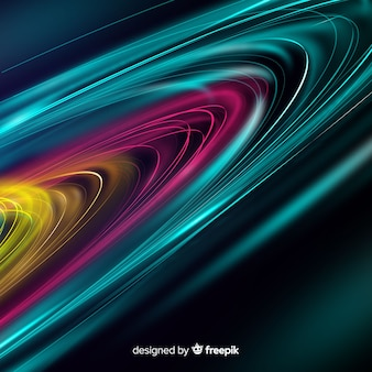 Colorful wavy light trail background
