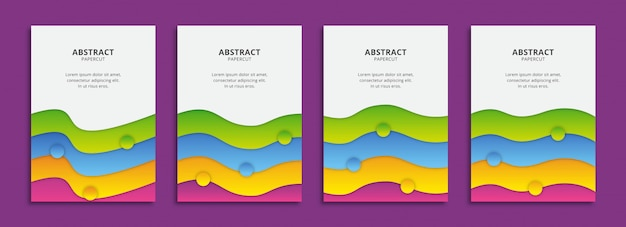 Colorful wavy shapes background