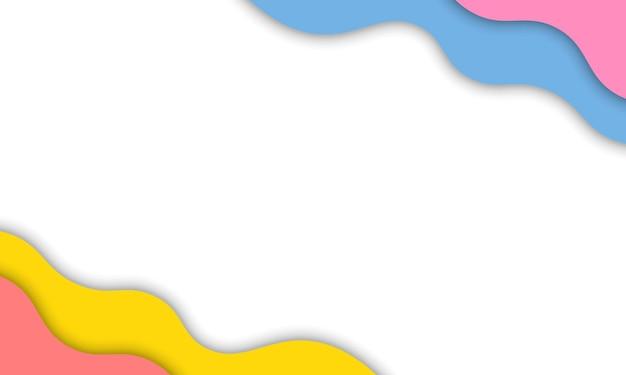 影の背景とカラフルな波状ベクトル図