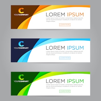 Colorful web banners set