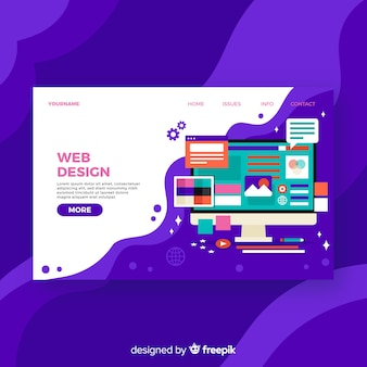 Colorful web design landing page