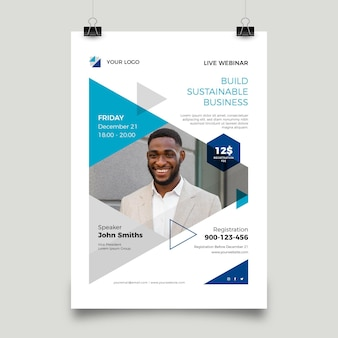 Colorful webinar flyers template