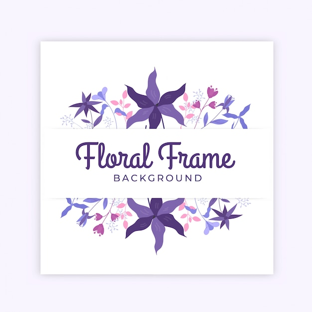 Colorful wedding floral frame