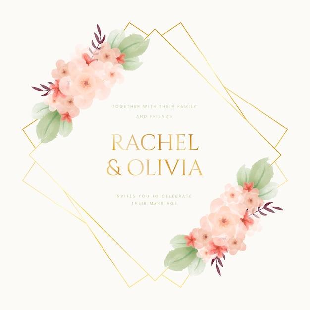Colorful wedding floral frame