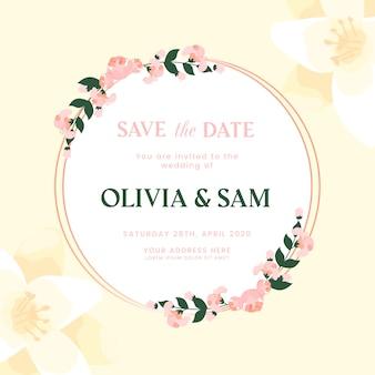 カラフルな結婚式の花のフレーム