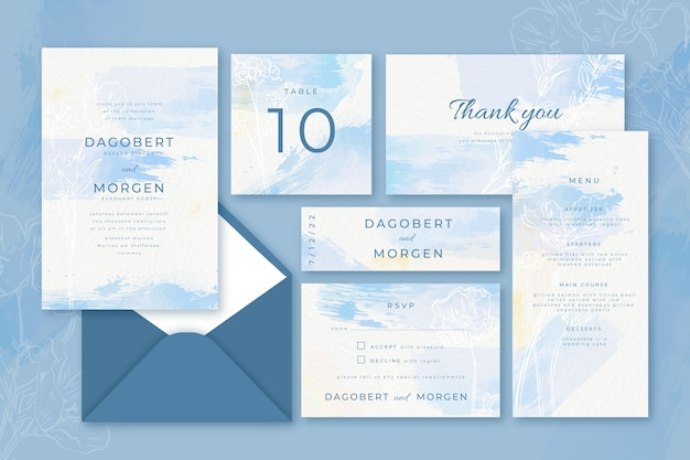 Colorful wedding invitation concept