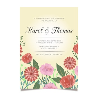 Colorful wedding invitation template
