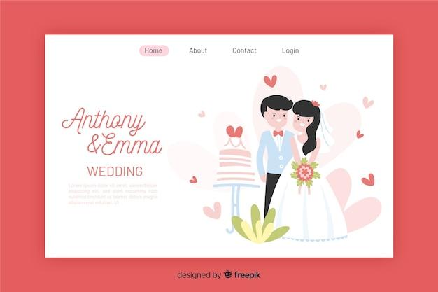 Colorful  wedding landing page