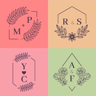 Colorful wedding monograms
