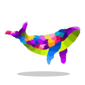 Красочная иллюстрация поп-арт кита
