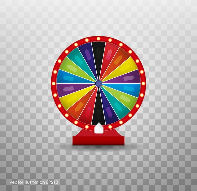 Colorful wheel of luck or fortune infographic.  illustration