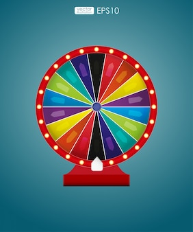 Colorful wheel of luck or fortune. vector illustration