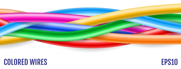 Colorful wires.