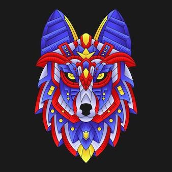 Красочная голова волка