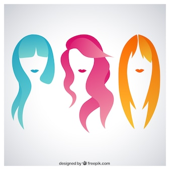 Colorful woman hair