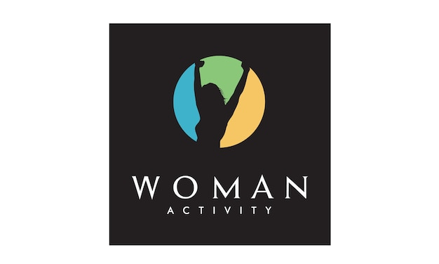 Colorful woman wellness logo design