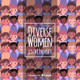 평면 디자인으로 화려한 여자 패턴
