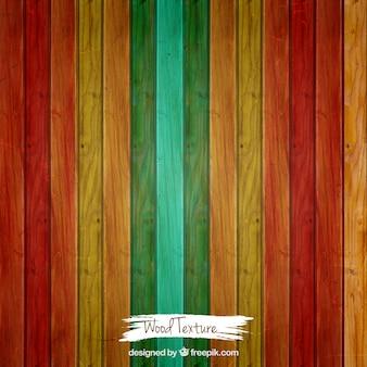 Struttura di legno colorato