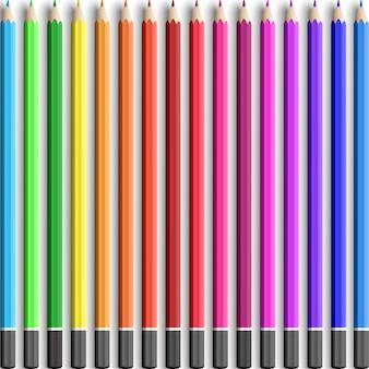 カラフルな木製のリアルな鉛筆
