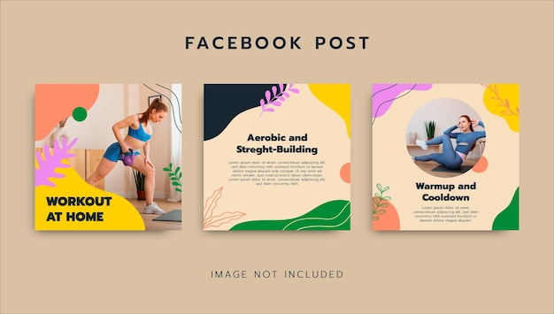 Allenamento colorato a casa post facebook