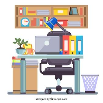 Цветной дизайн рабочего пространства