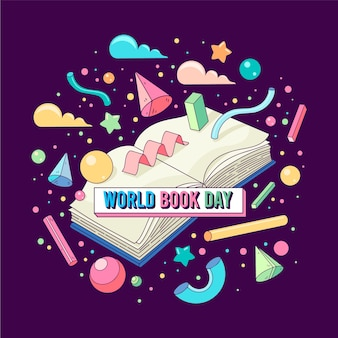 Colorful world book day