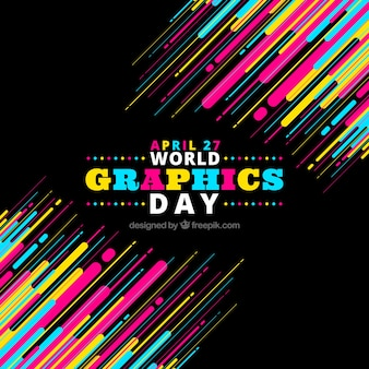 Colorful world graphics day background