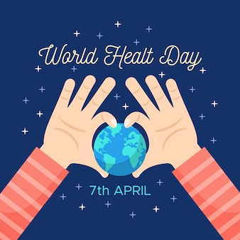 Colorful world health day concept