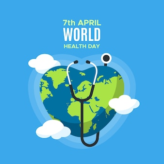 Colorful world health day theme