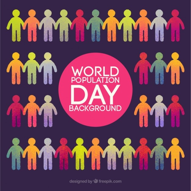 Colorful world population day background