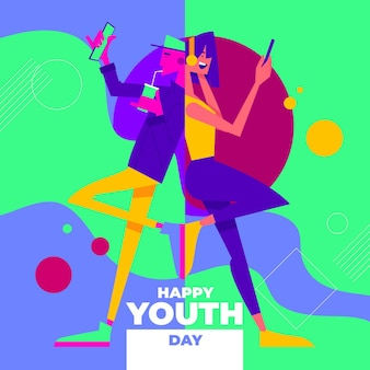 Colorful youth day celebration