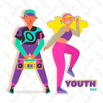 Красочный день молодежи концепция