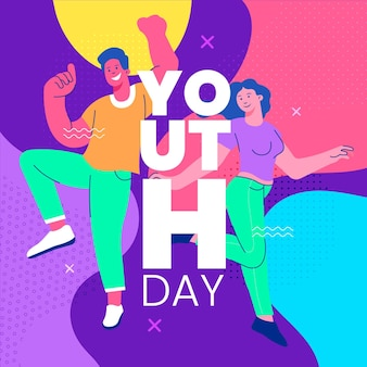 Colorful youth day concept