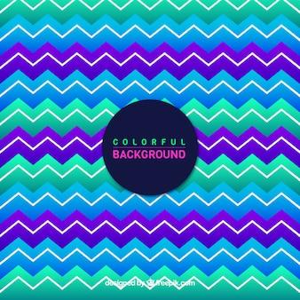 Цветной зигзагообразный полосатый фон