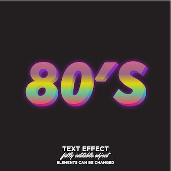 Colorfull 80's text effect