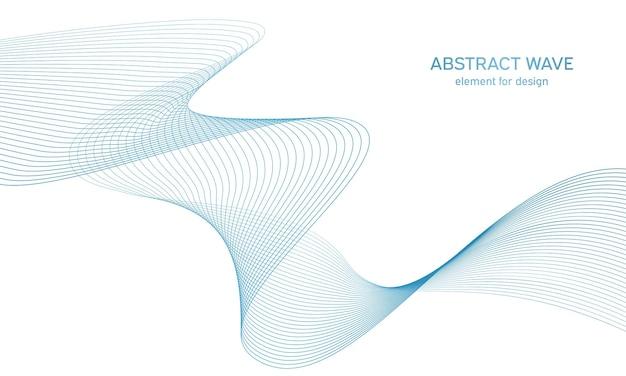 デザインのためのカラフルな抽象的な波要素