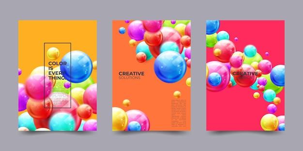 バナーやポスターのデザインのカラフルな背景