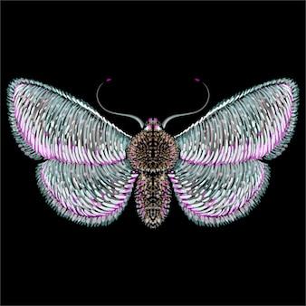カラフルな蝶の図
