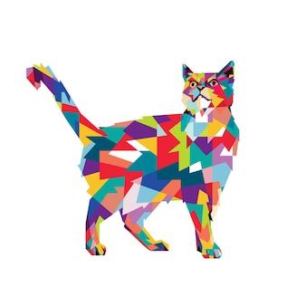 Colorfull cat wpap