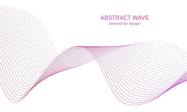 線のあるカラフルな要素波