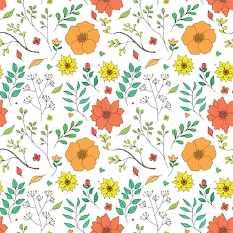 Colorfull floral pattern