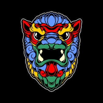 Colorfull fu dog