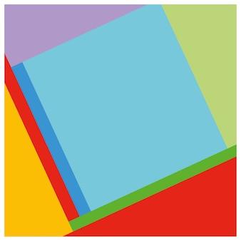 Colorfull 그래픽 기하학적 프리미엄 벡터